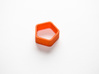 Poly5 Ring 3d printed Poly5 Ring in Orange Strong & Flexible