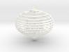 Spiral christmas ball with snowflake 3d printed