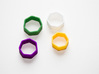 Poly7 Ring 3d printed Poly7 Ring in multiple colors