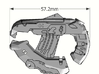 1:6 Large Direct Energy pistol x2 3d printed Add a caption...