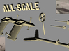 CARF P-47 scale detailed parts  3d printed