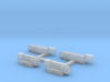 1/64th S scale winch set of 4, 2 small, 2 large 3d printed