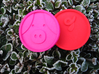 Pigcoin Plastic 3d printed Pink and red
