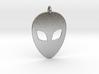 Alien Head Pendant, 1mm Thick. 3d printed