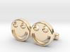 "Happy Face Cufflinks, Part of ""Fun Loving"" Collect 3d printed"