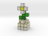 DAISY VOXEL FLOWER DECORATION 3d printed Daisy Voxel Flower rendered in Full Color Sandstone