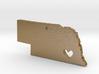 I Love Nebraska Pendant 3d printed