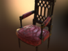 Georges Jacob Chair  1/12TH scale  (1739-1814) 3d printed Engine Render