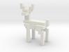 8bit reindeer with sharp corners 3d printed