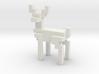 Big 8bit reindeer with sharp corners 3d printed