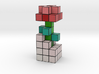 ROSE VOXEL FLOWER DECORATION 3d printed Rose Voxel Flower rendered in Full Color Sandstone.
