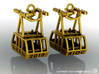 Roosevelt Island Tram Earrings  3d printed