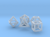 Platonic Solids Set 3d printed