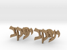 "Hebrew Name Cufflinks - ""Yaakov"" 3d printed"