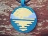 'Moonrise with Clouds' Pendant in Sandstone 3d printed