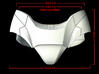 Iron Man Pelvis Armor, Back Right (Part 4 of 5) 3d printed CG Render (Front Measurements)
