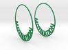 Custom Hoop Earrings - Motivation 60mm 3d printed