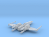 Space Superiority Fighter 7 Closed Wings 3d printed