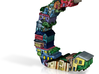 """#144 - Letter C - """"Row Houses"""" - Artist's Fonts 3d printed"""