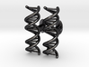 DNA Cufflink 3d printed
