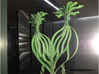 Heart The Beginning of life - Big 3D printed wall  3d printed Painted and on a mirror