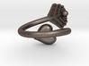 Heart leaf ring 3d printed