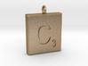 scrabble Charm or Pendant C blank  3d printed