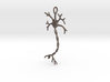 "Neuron Pendant (2.2"" high) 3d printed"