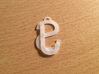 Overlaid Letter Charm 3d printed Back of the charm.