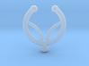 Faux septum ring - inner petal design 3d printed