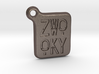 ZWOOKY Keyring LOGO 14 3cm 3mm rounded 3d printed