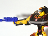 Autobot Jackpot's Heat Induced Photon Rifle 3d printed Print shown with Jackpot action figure.