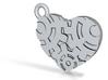 Gear Heart Steampunk Charm/Pendant 3d printed