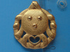 Cute Octopus Pendant with Heart 3d printed 3.8 cm