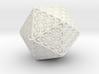 Icosahedron Christmas Tree Ornament 3d printed