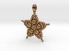 COSMIC STARFISH Designer Jewelry Pendant 3d printed