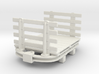 1:35 or Gn15 small skip based flat wagon slatted e 3d printed