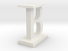 Two way letter / initial B&I 3d printed