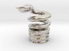 Snake Cigarette Stubber 3d printed Snake Cigarette Stubber in platinum