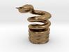 Snake Cigarette Stubber 3d printed Snake Cigarette Stubber in raw brass