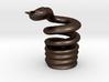 Snake Cigarette Stubber 3d printed Snake Cigarette Stubber in matte bronze steel