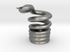 Snake Cigarette Stubber 3d printed Snake Cigarette Stubber in raw silver