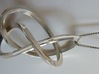 3-Sided Figure 8 Knot Pendant 3d printed Polished Silver 3-Sided Figure 8 Knot Pendant