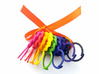 Wine Glass Tag - Braid 3d printed Full set of eight tags in all the dyed strong and flexible colors