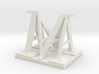Two way letter / initial A&M 3d printed