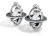subatomic saturnium earrings 3d printed