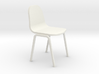 Miniature 1:24 Plastic School Chair 3d printed