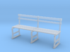 Miniature 1:48 Park Bench 3d printed