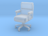 Miniature 1:48 Leather Office Chair 3d printed