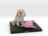 Custom Dog Figurine - Lucy (with Toy) 3d printed